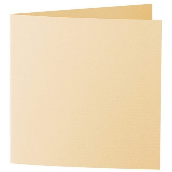 Artoz 1001 - 'Honey Yellow' Card. 260mm x 130mm 220gsm Small Square Folded Card.