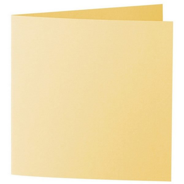 Artoz 1001 - 'Light Yellow' Card. 260mm x 130mm 220gsm Small Square Folded Card.