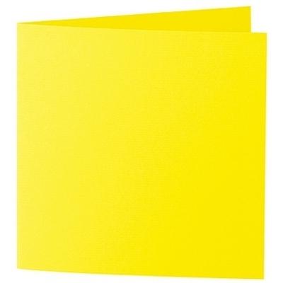 Artoz 1001 - 'Corn Yellow' Card. 260mm x 130mm 220gsm Small Square Folded Card.
