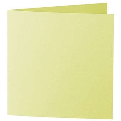 Artoz 1001 - 'Lime' Card. 260mm x 130mm 220gsm Small Square Folded Card.