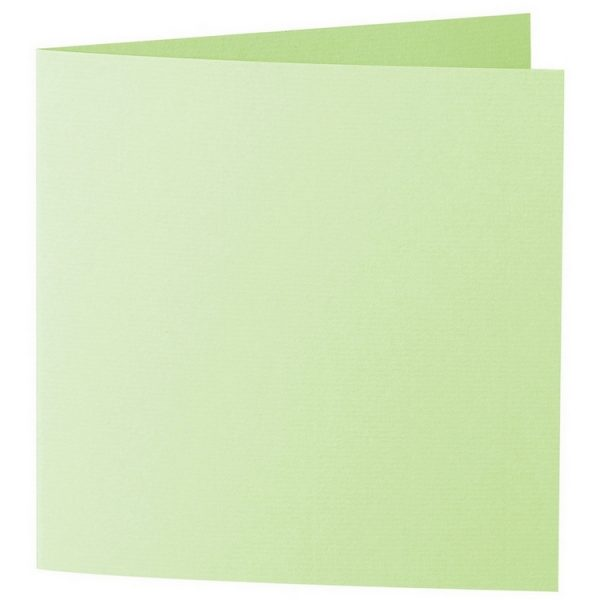 Artoz 1001 - 'Birchtree Green' Card. 260mm x 130mm 220gsm Small Square Folded Card.