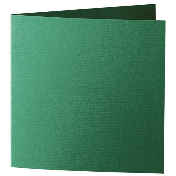 Artoz 1001 - 'Racing Green' Card. 260mm x 130mm 220gsm Small Square Folded Card.