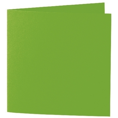 Artoz 1001 - 'Pea Green' Card. 260mm x 130mm 220gsm Small Square Folded Card.