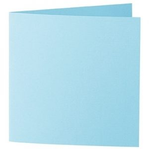 Artoz 1001 - 'Azure Blue' Card. 260mm x 130mm 220gsm Small Square Folded Card.