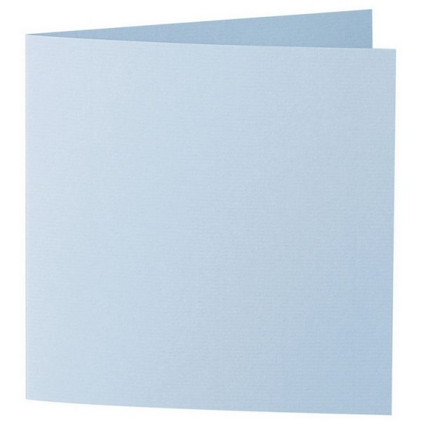 Artoz 1001 - 'Pastel Blue' Card. 260mm x 130mm 220gsm Small Square Folded Card.