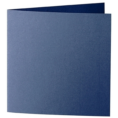 Artoz 1001 - 'Classic Blue' Card. 260mm x 130mm 220gsm Small Square Folded Card.