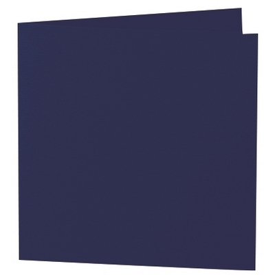 Artoz 1001 - 'Navy Blue' Card. 260mm x 130mm 220gsm Small Square Folded Card.
