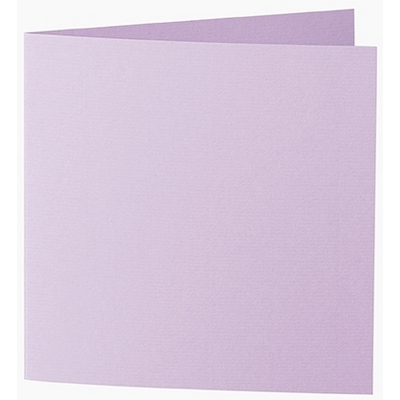 Artoz 1001 - 'Lilac' Card. 260mm x 130mm 220gsm Small Square Folded Card.