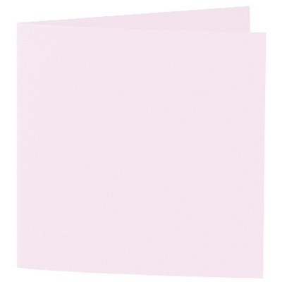 Artoz 1001 - 'Delicate Pink' Card. 260mm x 130mm 220gsm Small Square Folded Card.