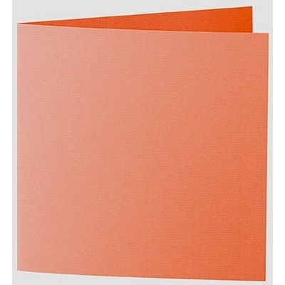 Artoz 1001 - 'Lobster Red' Card. 260mm x 130mm 220gsm Small Square Folded Card.