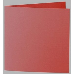 Artoz 1001 - 'Fire Red' Card. 260mm x 130mm 220gsm Small Square Folded Card.