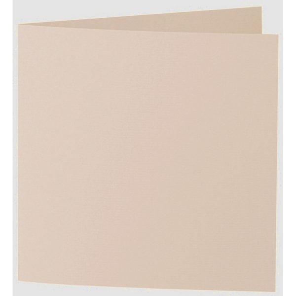 Artoz 1001 - 'Apricot' Card. 260mm x 130mm 220gsm Small Square Folded Card.