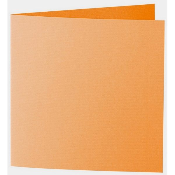 Artoz 1001 - 'Orange' Card. 260mm x 130mm 220gsm Small Square Folded Card.