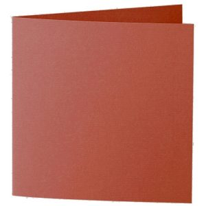 Artoz 1001 - 'Copper' Card. 260mm x 130mm 220gsm Small Square Folded Card.