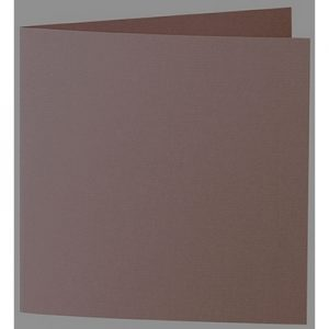 Artoz 1001 - 'Brown' Card. 260mm x 130mm 220gsm Small Square Folded Card.