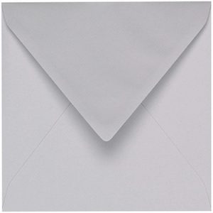 Artoz 1001 - 'Light Grey' Envelope. 135mm x 135mm 100gsm Small Square Gummed Envelope.
