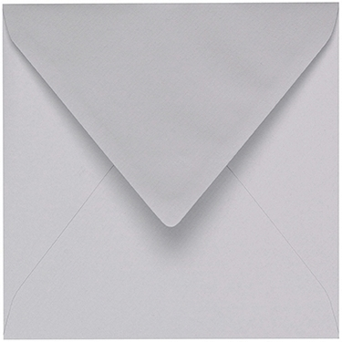 Artoz 1001 - 'Light Grey' Envelope. 135mm x 135mm 100gsm Small Square Gummed Envelope.
