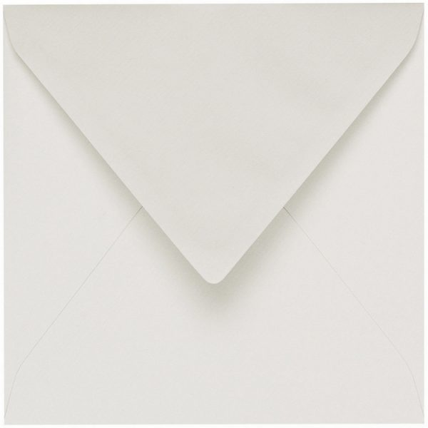 Artoz 1001 - 'Pale Ivory' Envelope. 135mm x 135mm 100gsm Small Square Gummed Envelope.