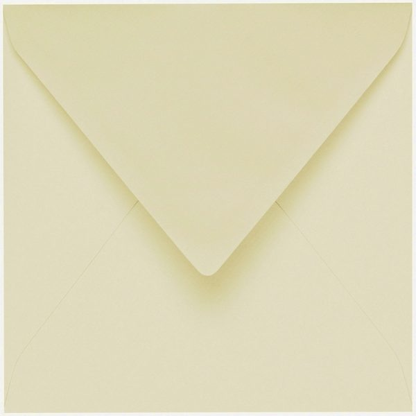 Artoz 1001 - 'Crema' Envelope. 135mm x 135mm 100gsm Small Square Gummed Envelope.