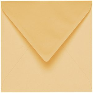 Artoz 1001 - 'Honey Yellow' Envelope. 135mm x 135mm 100gsm Small Square Gummed Envelope.