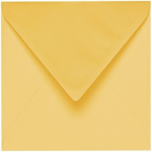 Artoz 1001 - 'Light Yellow' Envelope. 135mm x 135mm 100gsm Small Square Gummed Envelope.