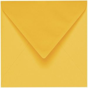 Artoz 1001 - 'Sun Yellow' Envelope. 135mm x 135mm 100gsm Small Square Gummed Envelope.