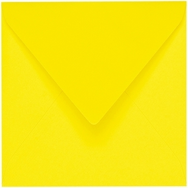 Artoz 1001 - 'Corn Yellow' Envelope. 135mm x 135mm 100gsm Small Square Gummed Envelope.