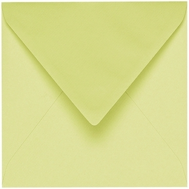 Artoz 1001 - 'Lime' Envelope. 135mm x 135mm 100gsm Small Square Gummed Envelope.