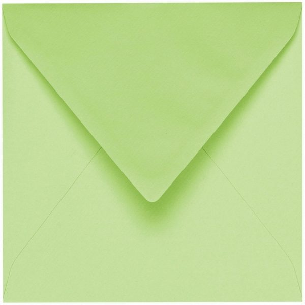 Artoz 1001 - 'Birchtree Green' Envelope. 135mm x 135mm 100gsm Small Square Gummed Envelope.