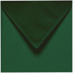Artoz 1001 - 'Racing Green' Envelope. 135mm x 135mm 100gsm Small Square Gummed Envelope.