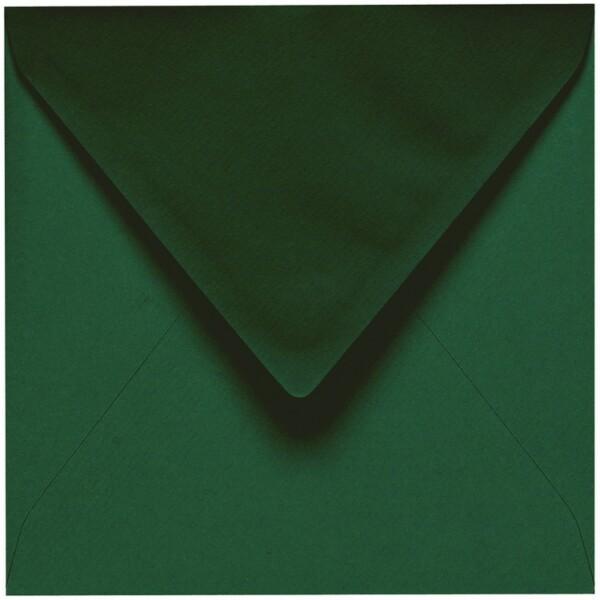 Artoz 1001 - 'Racing Green' Envelope. 135mm x 135mm 100gsm Small Square Gummed Envelope.