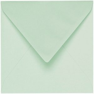 Artoz 1001 - 'Pale Mint' Envelope. 135mm x 135mm 100gsm Small Square Gummed Envelope.