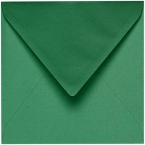 Artoz 1001 - 'Firtree Green' Envelope. 135mm x 135mm 100gsm Small Square Gummed Envelope.