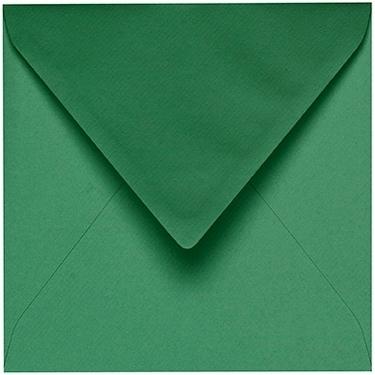 Artoz 1001 - 'Firtree Green' Envelope. 135mm x 135mm 100gsm Small Square Gummed Envelope.
