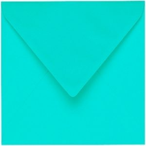 Artoz 1001 - 'Emerald Green' Envelope. 135mm x 135mm 100gsm Small Square Gummed Envelope.