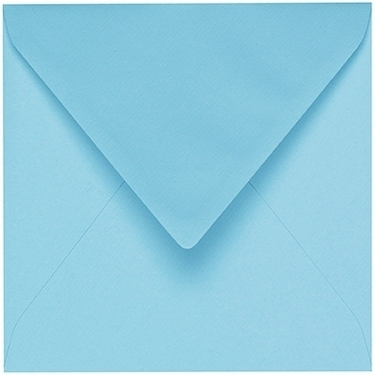 Artoz 1001 - 'Azure Blue' Envelope. 135mm x 135mm 100gsm Small Square Gummed Envelope.