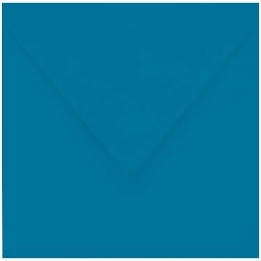 Artoz 1001 - 'Teal' Envelope. 135mm x 135mm 100gsm Small Square Gummed Envelope.