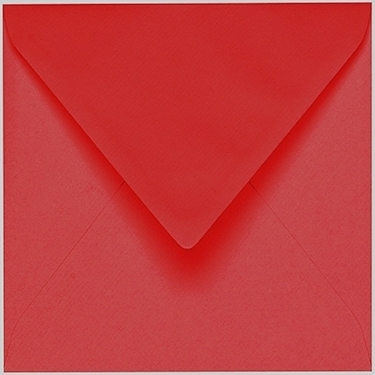 Artoz 1001 - 'Red' Envelope. 135mm x 135mm 100gsm Small Square Gummed Envelope.