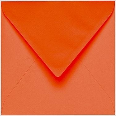 Artoz 1001 - 'Lobster Red' Envelope. 135mm x 135mm 100gsm Small Square Gummed Envelope.