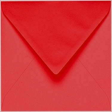 Artoz 1001 - 'Light Red' Envelope. 135mm x 135mm 100gsm Small Square Gummed Envelope.
