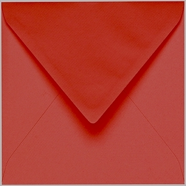 Artoz 1001 - 'Fire Red' Envelope. 135mm x 135mm 100gsm Small Square Gummed Envelope.
