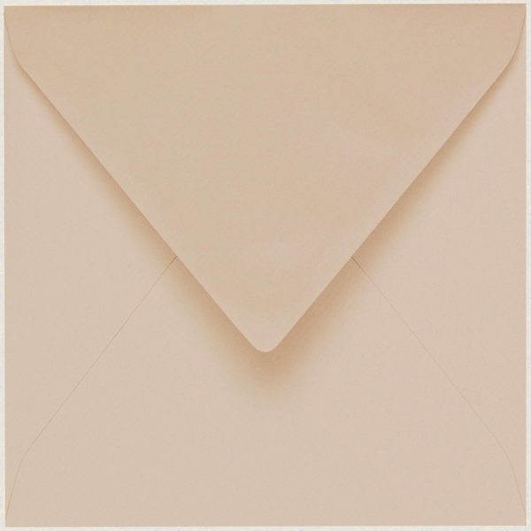 Artoz 1001 - 'Apricot' Envelope. 135mm x 135mm 100gsm Small Square Gummed Envelope.