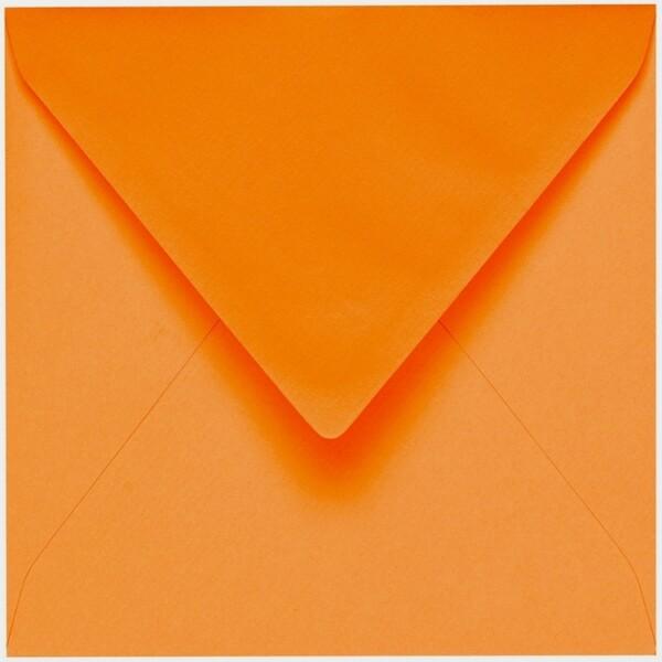 Artoz 1001 - 'Orange' Envelope. 135mm x 135mm 100gsm Small Square Gummed Envelope.