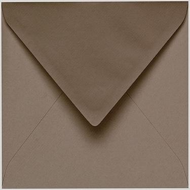 Artoz 1001 - 'Taupe' Envelope. 135mm x 135mm 100gsm Small Square Gummed Envelope.