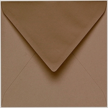Artoz 1001 - 'Olive' Envelope. 135mm x 135mm 100gsm Small Square Gummed Envelope.
