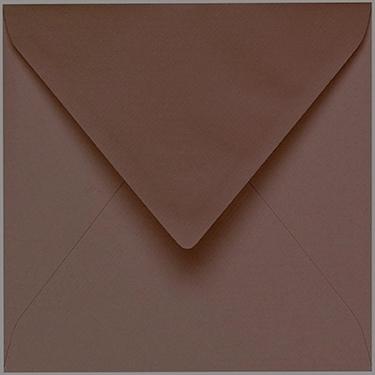 Artoz 1001 - 'Brown' Envelope. 135mm x 135mm 100gsm Small Square Gummed Envelope.
