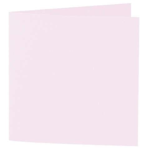 Artoz 1001 - 'Delicate Pink' Card. 310mm x 155mm 220gsm Square Folded Card.
