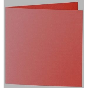 Artoz 1001 - 'Fire Red' Card. 310mm x 155mm 220gsm Square Folded Card.