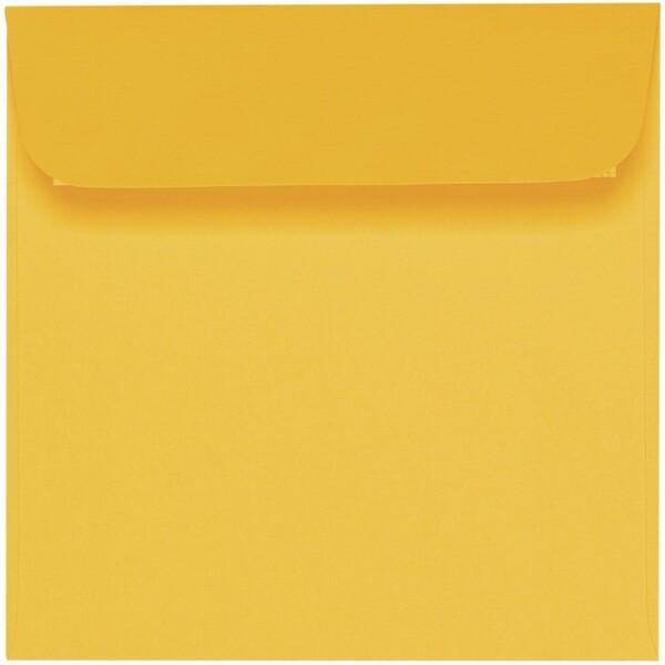 Artoz 1001 - 'Sun Yellow' Envelope. 160mm x 160mm 100gsm Square Peel/Seal Envelope.
