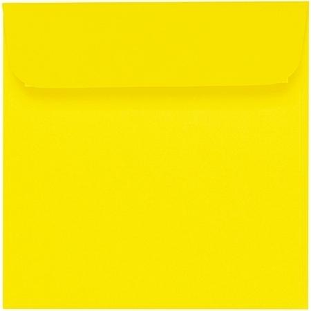 Artoz 1001 - 'Corn Yellow' Envelope. 160mm x 160mm 100gsm Square Peel/Seal Envelope.
